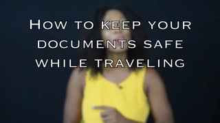 How to keep your passport safe while traveling - Video