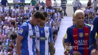 VIDEO: Neymar & Rafinha Angry Reaction vs Leganes - Video