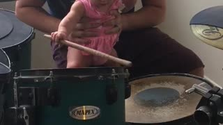 6 Month Old Playing The Drums - Video