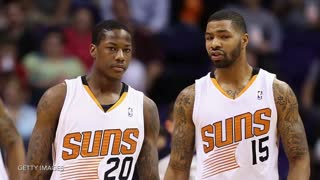 Phoenix Suns Markieff Morris & Archie Goodwin Fight on Bench - Video