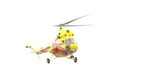 What do stupid people do when Rescue helicopter needs to land on the beach