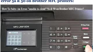 448000465291 Fix Error Unable to clean 5a&50 on Brother Printer - Video