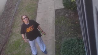 Neighbors Fight with Brooms - Video