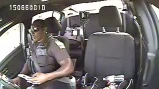Dash cam shows police officer texting before being hit by another car