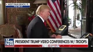 President Trump Teleconferences With Troops for Christmas - Video