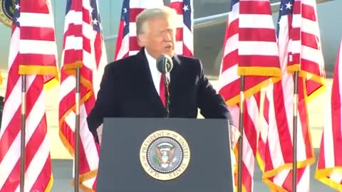 """President Trump says he """"will be back."""""""