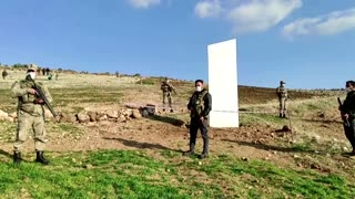 Mysterious monolith appears in Turkey
