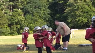 Two Kids Appear To Dance Instead Of Practice Football