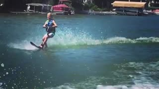 Collab copyright protection - sideflip kid faceplants during water - Video