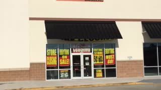 Closed Payless Shoesource Strip Mall Location  - Video