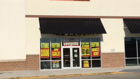 Closed Payless Shoesource Strip Mall Location