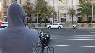 Trump Drives Past Freedom Plaza In The Beast