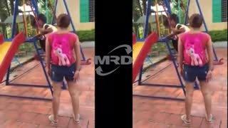 Baby play slide | Playing at the Park on the Playground for Kids & Children - Video