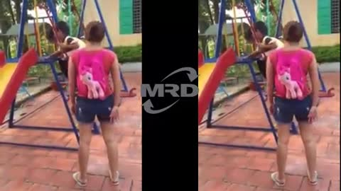 Baby play slide | Playing at the Park on the Playground for Kids & Children