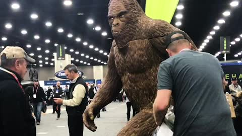 Bigfoot is Trying to Stay Inconspicuous