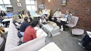 An artist is hosting life drawing classes with DOGS