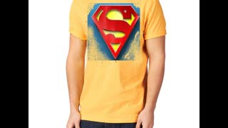 Superman Printed Charcoal Colour T Shirts - Video