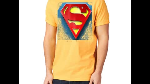 Superman Printed Charcoal Colour T Shirts
