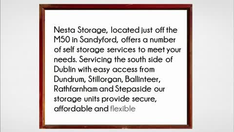 self storage dublin