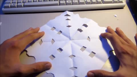 How to make a nice snowflake for your window!