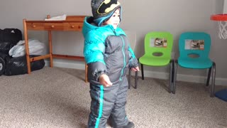 Toddler Tries Out New Snowsuit  - Video