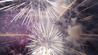 Drone Camera Flies Through Fireworks And The Footage Is Spectacular