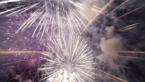 Flying a quadcopter through fireworks - Video