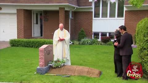 Funeral On Front Lawn Prank Goes Viral