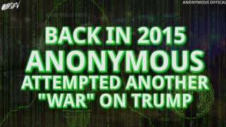 Anonymous Declares War on Donald Trump - Video