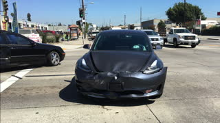Tesla Model 3 Totaled in Collision - Video