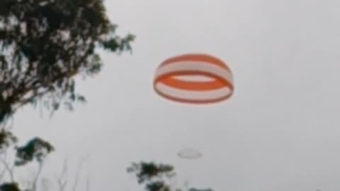 Air-plane Lands with Parachute