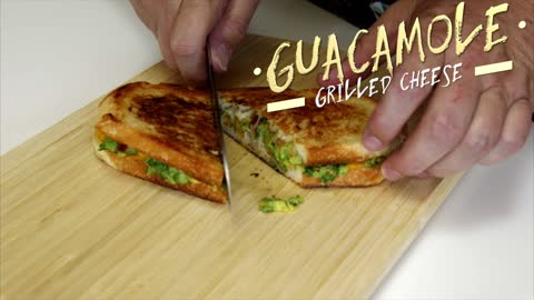 Guacamole grilled cheese sandwich recipe