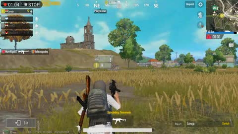Pubg Mobile Game Scanning Enimies From The Roaf Then Going Inside Safe Zoon