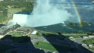 Rainbow over Niagara Falls  - Video