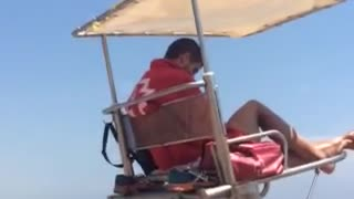 Spanish Lifeguard Hard At Work - Video