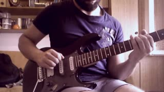 Vladko Simonovski - Improvisation over Satriani style backing track - Video