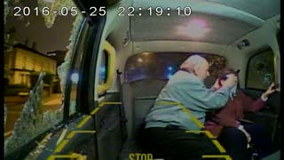 Taxi Carrying an Elderly Couple is Attacked - Video