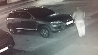 Headlight Thieves Caught On Camera - Video
