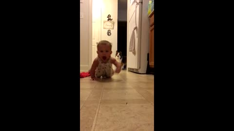 Adorable baby shows you just how much she loves the camera!