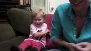 Cute baby using sign language - Video