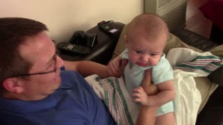 This Charming Baby Can't Stand It When His Dad Pretends To Cry - Video