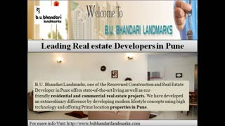 B.U.Bhandari Landmarks Presents affordable investments in Pune to make your Dreams come true - Video