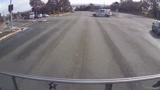 Driver Tries Drifting at the Wrong Time - Video