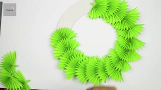 Paper Christmas Wreath | How To Make Christmas Wreath | Christmas Decorations Ideas