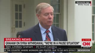 Lindsey Graham says there is a 'pause' on Syria withdrawal