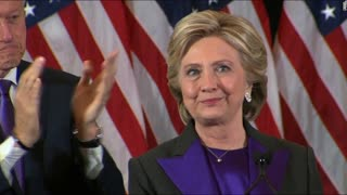 "Hillary Clinton Apologizes To Americans ""Delivers Concession Speech"" - Video"