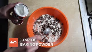 He mixes flour in a bowl of ice cream... I'm running to the kitchen to try THIS - Video