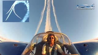 Cockpit view of aerobatic airplane captures dangerous stunt - Video