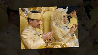 Sultan of Brunei's son Prince Abdul Malik gets married in a sea of gold - Video