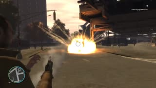 Blasting cars in GTA 4 - Video